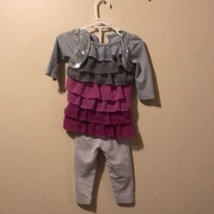 girls 2 piece outfit 6-9 months piper sequins